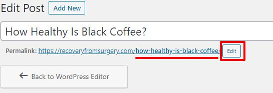 uređivanje URL-a za blog članak