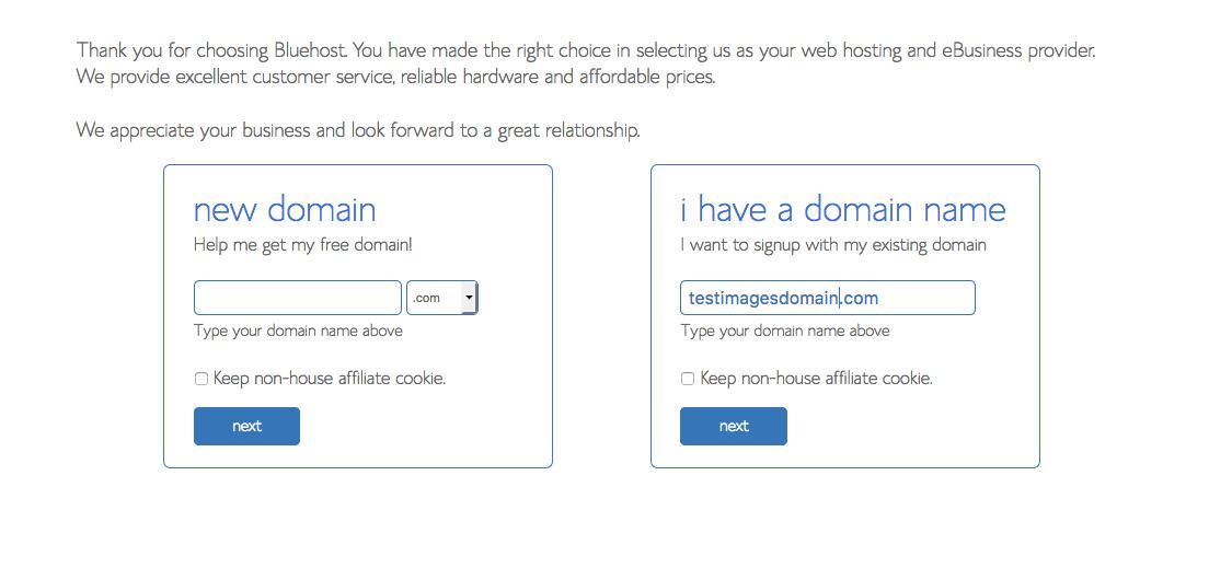 bluehost registracija domene