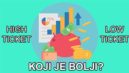 high ticket ili low ticket affiliate marketing proizvodi, online zarada,