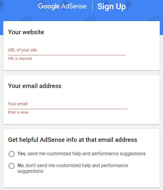 google adsense registracija