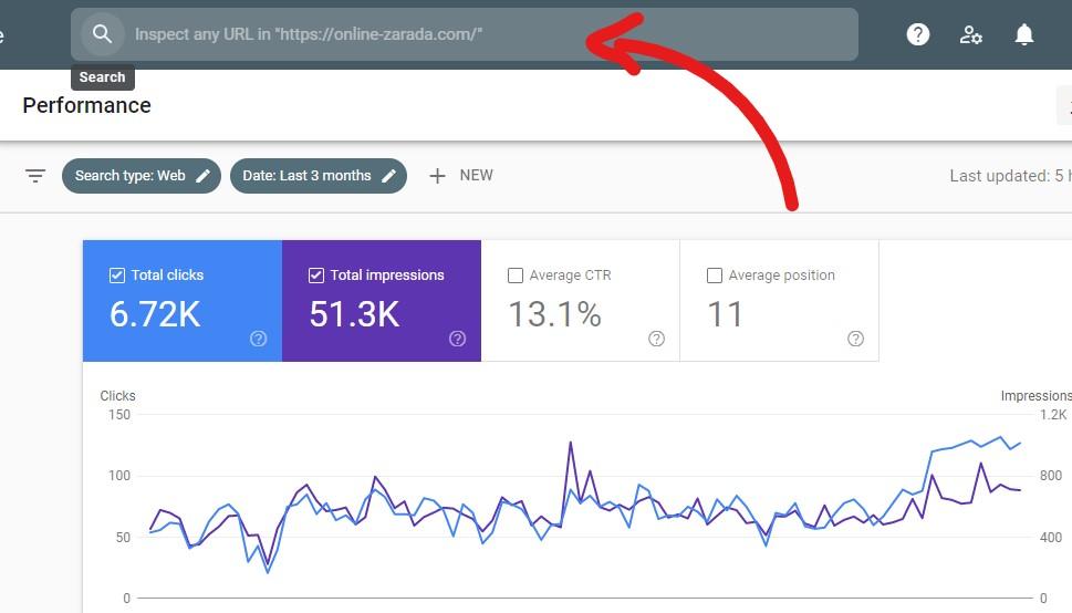 google search console inspect url